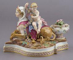 173: Meissen porcelain figural group modeled as a : Lot 173