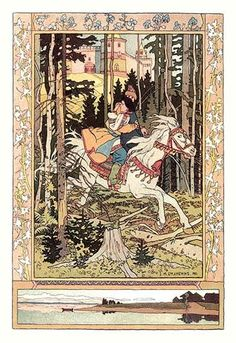 Ivan Yakovlevich Bilibin (1876 - 1942) was a Russian 20th-century illustrator. He was strongly inspired by Slavic folklore and worked a lot in theater with set design. He also delved into children's l