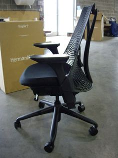 herman miller sayl chair black fully loaded