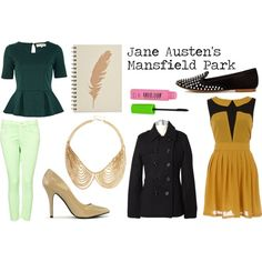 """""""Inspired By: Jane Austen's Mansfield Park Book Covers"""" by sarastrauss on Polyvore"""