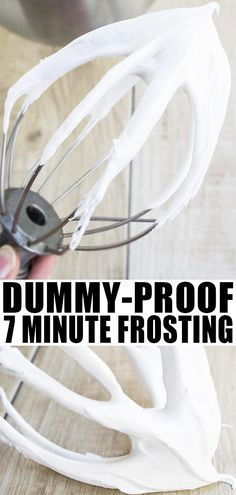 This easy seven minute frosting recipe yields a really white, soft and fluffy icing that tastes like marshmallows. Great for topping cakes and cupcakes! Egg White Frosting, Fluffy Frosting Recipes, Fluffy Icing, Cake Frosting Recipe, Sugar Frosting, Marshmallow Frosting, Sugar Cookie Icing, Homemade Frosting, Easy Icing Recipe