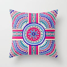 'Sequence' Throw Pillow by PeriwinklePeacoat