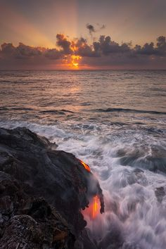 When Lava Meets Ocean by Tom Kualii