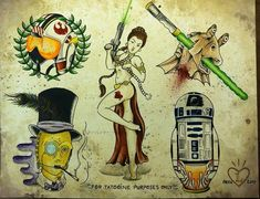 Image result for star wars tattoo flash