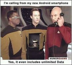 Unlimited Data - About time I found some Star Trek funnies on here!!!
