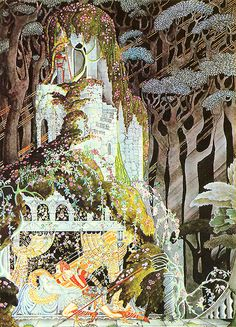 Captivating Illustrations of Classic Fairy Tales From the Brothers Grimm Sleeping Beauty -- Kay Nielsen -- Fairytale Illustration Kay Nielsen, Fantasy Kunst, Fantasy Art, Brothers Grimm Fairy Tales, Illustrator, Classic Fairy Tales, Art And Illustration, Book Illustrations, Fairytale Art