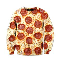 Would you wear this Pepperoni Pizza Sweatshirt? It might make you hungry all of the time.