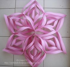 Paper star in pieces