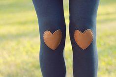 My Leather Heart Navy Leggings
