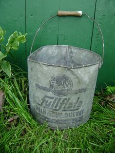 Minnow Bucket Frabill's FullFlote Milwaukee by junquegypsy on Etsy, $24.95