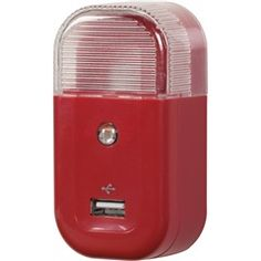 Red AC-to-USB Home Nightlight Charger  RCA USBNL2R  PRICE DROP!  Price: $7.90  #red #nightlight #charger