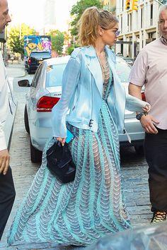 Gigi Hadid's killer street style: Princess blues