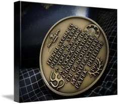 """Patek Philippe Geneve commemorative medal coin canvas print in Stretched Canvas configuration. Price starts at $62 (Petite 8"""" x 10""""). http://www.imagekind.com/Patek-Philippe-Geneve-PPG_art?IMID=02d2d878-c1ec-4135-b5f1-3c17e7a5ee8b"""
