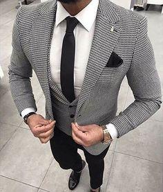Mens Fashion Trends For 2018 - Top Fashion For Men Der Gentleman, Gentleman Style, Gentleman Fashion, Style Masculin, Designer Suits For Men, Men Formal, Mens Fashion Suits, Dress Suits, Wedding Suits