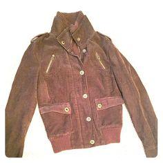 Brown corduroy bomber jacket So sad to let it go its soooo perfect. Looks brand new. Jackets & Coats
