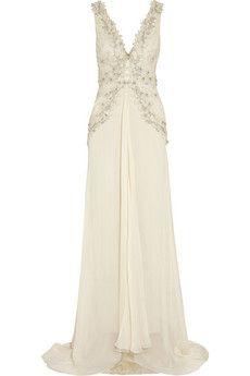31aa2db9daa2 Temperley London - Romily embellished silk-blend chiffon gown