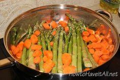 Honey Glazed Asparagus & Carrots with Pecans Recipe