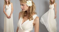 Greek Goddesses check out when scouting for their wedding dresses. Lots of flowy, drapey Greco-Roman...