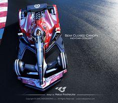 Semi Closed Canopy Indy Car Concept by Matus Prochaczka