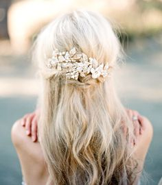 Bridal Headpiece EMMA ANNE Bridal Pearl Hair von EdenLuxeBridal