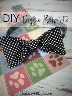 #DIY Doggie Bow Tie