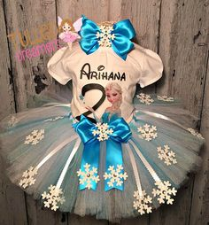 online shopping for Frozen Elsa Snowflake Tutu Outfit from top store. See new offer for Frozen Elsa Snowflake Tutu Outfit Frozen Birthday Outfit, Frozen Birthday Theme, Frozen Themed Birthday Party, Birthday Party Outfits, Birthday Tutu, Frozen Party, Girl Birthday, Birthday Parties, Frozen Tutu