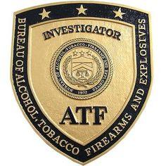 ATF Investigator Badge Plaque