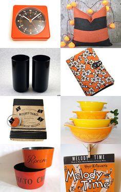 Epsteam loves orange and black.... by Elizabeth Wellburn on Etsy--Pinned with TreasuryPin.com