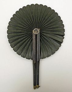 Mourning fan Date: 19th century Culture: American (probably) Medium: leather, cotton