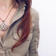 Hand Stitched Harvest Necklace | Zelma Rose