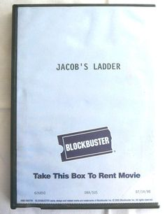 Jacob's Ladder: Vtg Rare Blockbuster Store DVD Case Collectible Classic 1998 A1