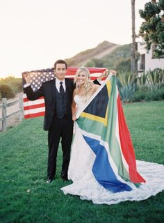 international couple = international wedding or mission flags :)