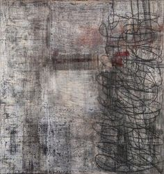 "Jeanie  Gooden, Knock Knock...Secret Is That You? Mixed media on canvas. 82"" H x 82"" W x 3"" D."