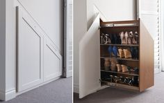 Pull-out shoe storage/