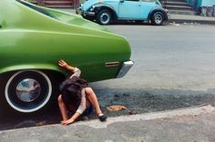 Helen Levitt  'Squatting girl/spider girl, New York City'  1980