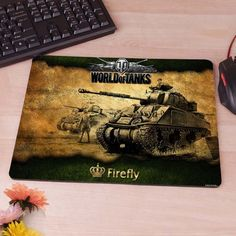World Of Tanks Kb Games Military Computer Mouse Pad Mousepad Decorate Your Desk Non-Skid Rubber Pad