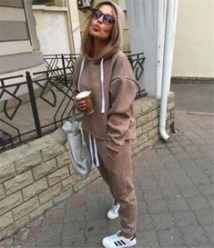 9325abb7d5d Suits & Sets · Women Casual Fashion Tracksuits 2018 Autumn Hooded Crop Top  Sweatshirt and Loose Long Pants 2 Piece