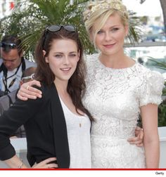 """Kristen Stewart and Kirsten Dunst in Cannes for the Premiere of their movie """"On The Road"""""""