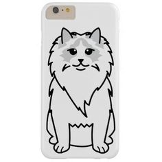 Ragdoll Cat Cartoon Barely There iPhone 6 Plus Case