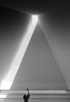Skylight in pyramid roof Eduardo Souto de Moura - Museu Paula Rego, Cascais 2010 Architecture Ombre, Shadow Architecture, Architecture Unique, Museum Architecture, Space Architecture, Futuristic Architecture, Light Luz, Lumiere Photo, Arch Light
