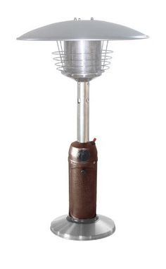 AZ Patio Heaters HLDS032 BB Portable Stainless Steel Heater, Hammered  Bronze By AZ Patio