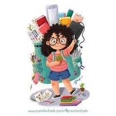 43 ideas children illustration girl beautiful for 2019 Behance Illustration, Children's Book Illustration, Character Illustration, Girl Cartoon, Cartoon Art, Cartoon Drawings, Cute Cartoon, Children Cartoon, Behance Branding
