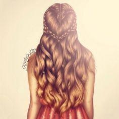 I love the way Kristina Webb draws hair.