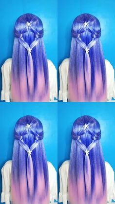 Hairstyle Tutorial 655 - Women Style World Braided Hairstyles, Cool Hairstyles, Cute Hairstyles For Teens, Long Hair Video, Beautiful Hair Color, Hair Shades, Pinterest Hair, Synthetic Lace Front Wigs, Mermaid Hair