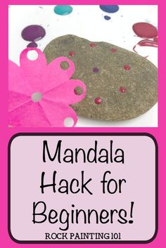 Mandala rock painting is a technique that many people are intimidated by, including me. I've come up with some tips that will help us beginners tackle the art of Mandala painting. I even found an easy hack to make spacing a breeze! Looking for easy rock p Rock Painting Patterns, Rock Painting Ideas Easy, Dot Art Painting, Rock Painting Designs, Mandala Painting, Pebble Painting, Pebble Art, Stone Painting, Rock Painting Supplies