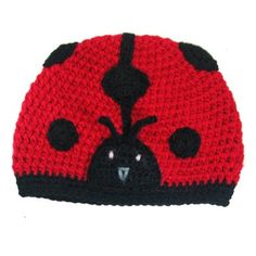 Girls Soft Crochet Ladybug Beanie Winter Hat Cap - Great for Christmas Holiday Gift Giving Stocking Stuffers for Toddlers to Older Girls: Amazon.com: Clothing