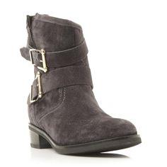 DUNE LADIES PHILEE - Buckle Detail Ankle Boot - dark grey | Dune Shoes Online