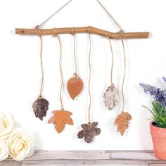 Leaf Mobile | Free Craft Ideas | Baker Ross  Connect with nature this Autumn with this lovely wooden hanging leaf mobile.
