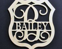 Check out our monogram shield selection for the very best in unique or custom, handmade pieces from our shops. Monogram Jewelry, Decorative Plates, Handmade, Etsy, Hand Made, Handarbeit