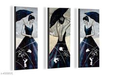 Paintings & Posters SAF Modern Art 6MM MDF Framed set of 3 Digital Reprint 15 inch x 18 inch Painting Material: MDF  Size- (L X W ): 36 cm X 45 cm Description: It Has 3 Pieces Of Wall Poster Work: Printed Country of Origin: India Sizes Available: Free Size   Catalog Rating: ★4.1 (6086)  Catalog Name: Navratri Multicolor Attractive Trendy Wall Posters Vol 5 CatalogID_622663 C127-SC1611 Code: 391-4339515-792